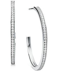 """Michael Kors Medium Crystal Pavé Hoop Earrings 1-1/5"""""""