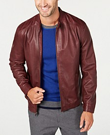 Men's Pietro Leather Jacket, Created for Macy's