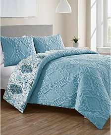 Luanna 3-Pc. Full/Queen Reversible Duvet Cover Set