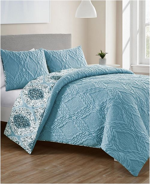 VCNY Home Luanna 3-Pc. Full/Queen Reversible Duvet Cover Set