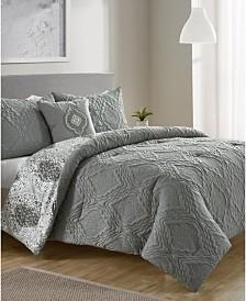 Quad Diamond 3-Pc. Twin XL Reversible Comforter Set