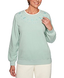 Classics Embroidered-Yoke Top
