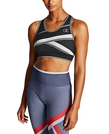 Women's Infinity Colorblocked Racerback Medium-Impact Sports Bra