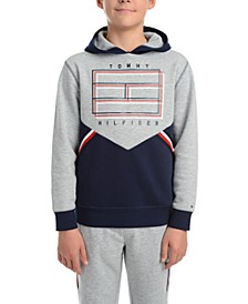 Big Boys Noah Colorblocked Fleece Logo Hoodie