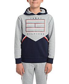 Tommy Hilfiger Big Boys Noah Colorblocked Fleece Logo Hoodie