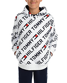 Tommy Hilfiger Big Boys Jayden Fleece Logo Hoodie