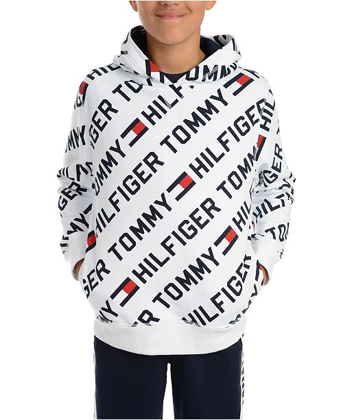 Tommy Hilfiger Big Boys Jayden Fleece Logo Hoodie