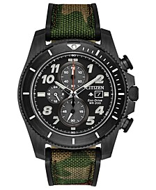 Eco-Drive Men's Chronograph Promaster Tough Camouflage Fabric Strap Watch 44mm