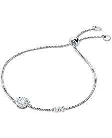 Sterling Silver Cubic Zirconia Slider Bracelet