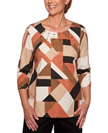 Alfred Dunner Street Smart Colorblocked Top