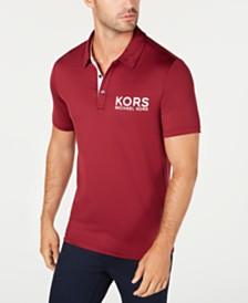Michael Kors Men's Performance Stretch Golf Logo Polo Shirt, Created for Macy's