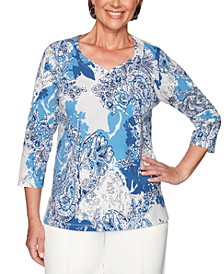 Classics Embellished Printed Top