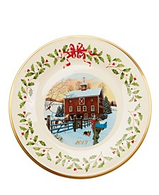 2019 Holiday Plate Barn Scene