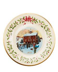 Lenox 2019 Holiday Plate Barn Scene