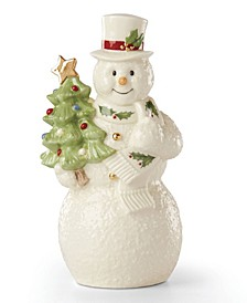 Snowman with Tree Figurine