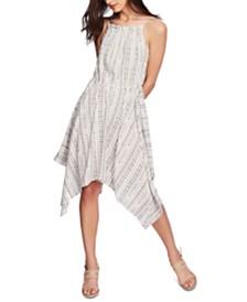 1.STATE Tribal-Print Handkerchief-Hem Dress