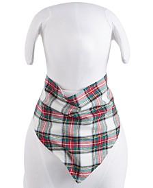 Matching Family Pajamas Stewart Plaid Pet Bandanna, Created For Macy's