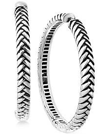 EFFY® Braided Hoop Earrings in Sterling Silver
