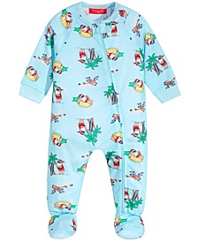 Matching Baby Tropical Santa Footed Pajamas, Created for Macy's