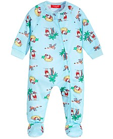 Matching Family Pajamas Baby Tropical Santa Footed Pajamas, Created for Macy's