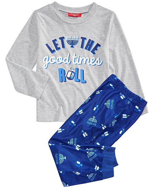 Family Pajamas Matching Family Kids Let The Good Times Roll Hanukkah Pajama Set, Created for Macy's