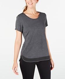 Ideology Mesh-Hem T-Shirt, Created for Macy's