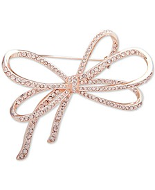 Pavé Bow Pin, Created for Macy's