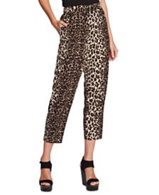 Vince Camuto Cropped Leopard-Print Pants