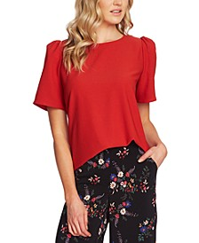 Gathered Short-Sleeve Top