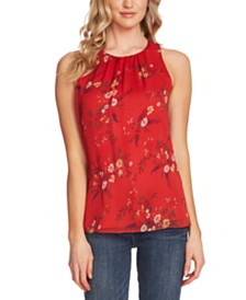 Vince Camuto Country Bouquet Floral-Print Top