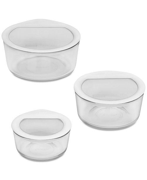 Pyrex 6-Pc. Food Storage Set, White