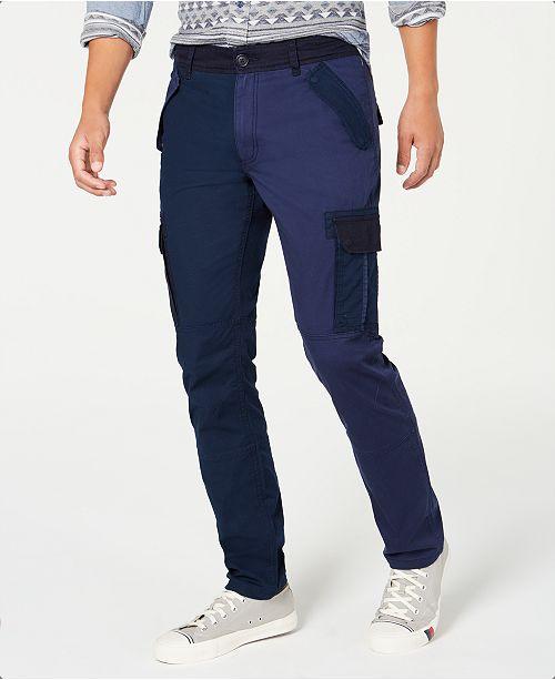 American Rag Men's Blocked Cargo Pants, Created for Macy's
