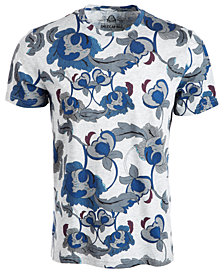American Rag Men's Abstract Floral T-Shirt, Created for Macy's