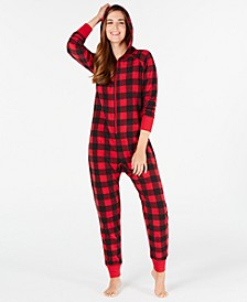 Matching Women's Buffalo-Check Hooded Pajamas, Created for Macy's