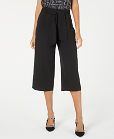 Alfani Petite Belted Culottes, Created for Macy's