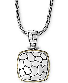 "EFFY® Crackle 18"" Pendant Necklace in Sterling Silver & 18k Gold"