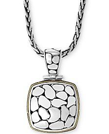 "EFFY® Crackle 18"" Pendant Necklace in Sterling Silver & 18k Gold"