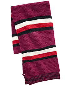Men's Back Bay Cardigan-Knit Striped Marled Scarf