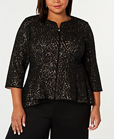 Plus Size Modified-Peplum Jacket