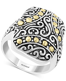 EFFY® Filigree Two-Tone Statement Ring in Sterling Silver & 18k Gold