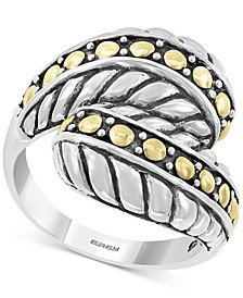 EFFY® Two-Tone Bypass Statement Ring in Sterling Silver & 18k Gold