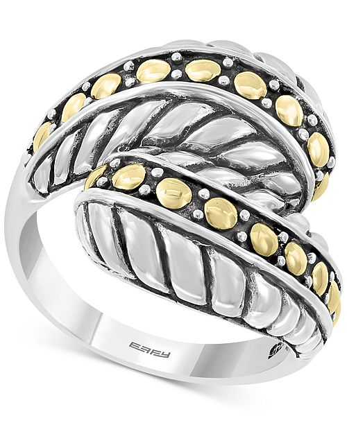 EFFY Collection EFFY® Two-Tone Bypass Statement Ring in Sterling Silver & 18k Gold