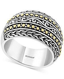 EFFY® Filigree Domed Statement Ring in Sterling Silver & 18k Gold