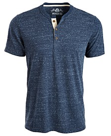 American Rag Men's Heathered Short-Sleeve Henley, Created for Macy's