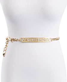 Logo-Plate Chain Belt