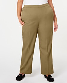 Alfred Dunner Plus Size Cedar Canyon Pull-On Stretch Pants