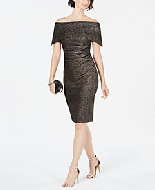 Off-The-Shoulder Metallic Dress