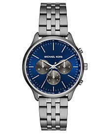Men's Chronograph Sutter Gunmetal Stainless Steel Bracelet Watch 42mm
