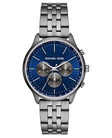 Michael Kors Men's Chronograph Sutter Gunmetal Stainless Steel Bracelet Watch 42mm