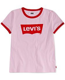 Levi's® Little Girls Retro Ringer Cotton T-Shirt